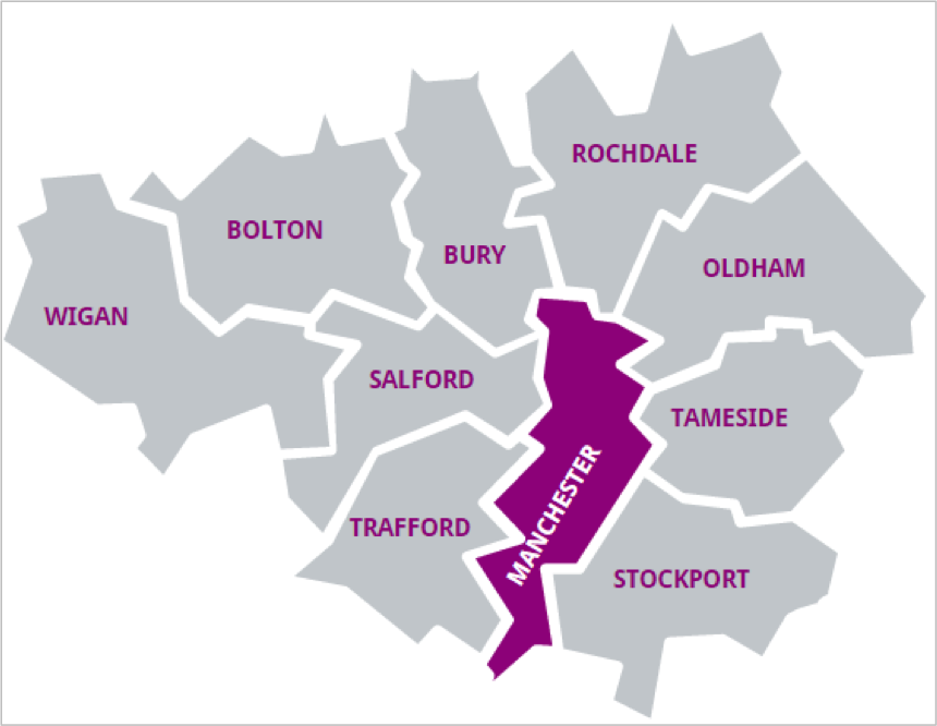 Planning authority area map